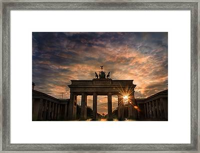 Gate Sunset Framed Print by Nathan Wright