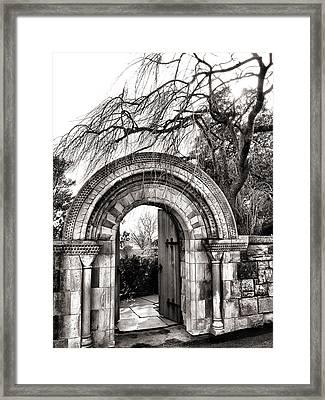Gate To Bishop's Garden Framed Print