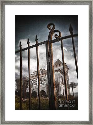 Gate To Haunted House Framed Print by Carlos Caetano