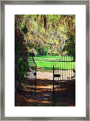 Framed Print featuring the photograph Gate To Heaven by Donna Bentley