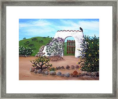 Gate To Nowhere Framed Print by Laura Iverson