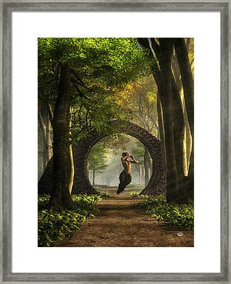 Gate To Pan's Garden Framed Print