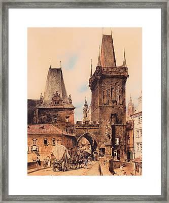 Gate To Prague Framed Print