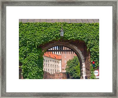 Gate To  Royal Castle Of Krakow Framed Print by Anastasy Yarmolovich