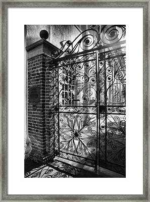 Gate To St. Michaels Framed Print by Steven Ainsworth