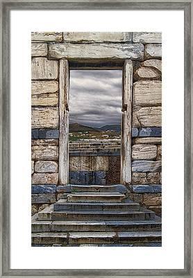 Gate To The Acropolis Framed Print