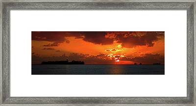Gate To The Americas Framed Print