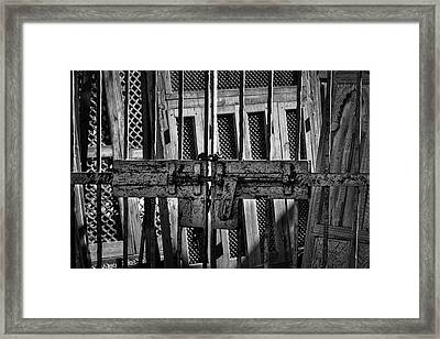 Gate To The Salvage Yard Framed Print by Stuart Litoff
