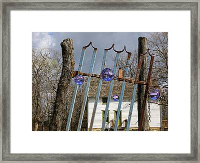 Gated Community Visitors Framed Print by Christopher McKenzie