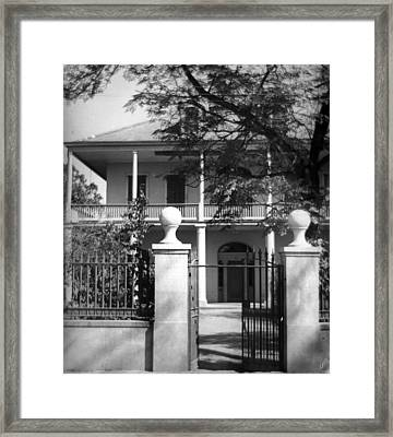 Gated Colonial Home Framed Print