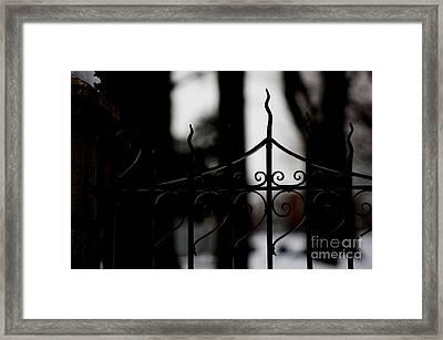 Gated Woods Framed Print by Linda Shafer