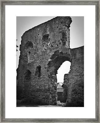 Gatehouse At Nenagh Castle Ireland Framed Print by Teresa Mucha