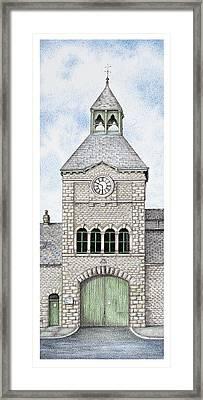 Gatehouse Clock   Caton Road  Lancaster   Lancashire Framed Print by Sandra Moore