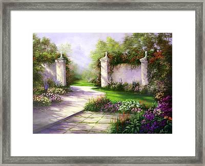 Gates In Menlo Park Framed Print by Gail Salitui