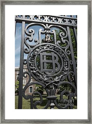 Gates Of Brown University Providence Rhode Island Framed Print by Edward Fielding