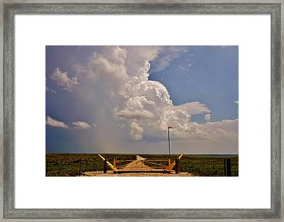 Framed Print featuring the photograph Gates Of Hail by Ed Sweeney