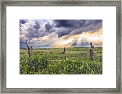 Gates Of Heaven Framed Print