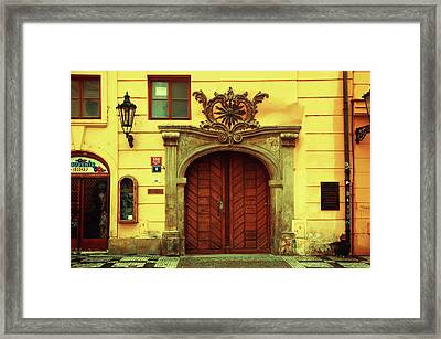 Framed Print featuring the photograph Gates Of Sun. Series Golden Prague by Jenny Rainbow