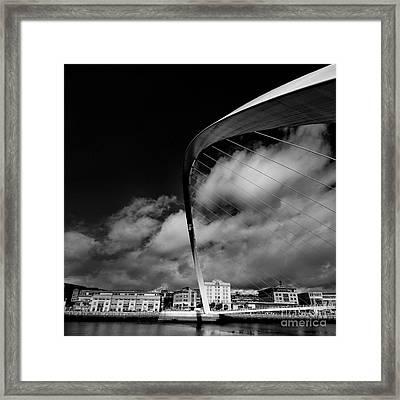 Gateshead Millenium Bridge Framed Print by Nichola Denny