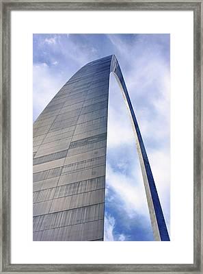 Framed Print featuring the photograph Gateway Arch - Grace - Saint Louis by Nikolyn McDonald