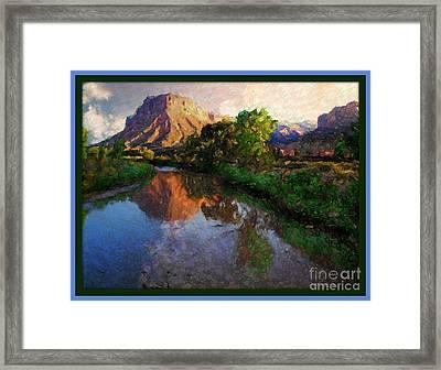Gateway Colorado Mesa By River Framed Print by Annie Gibbons