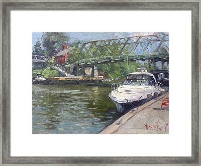 Gateway Harbor Park Framed Print by Ylli Haruni