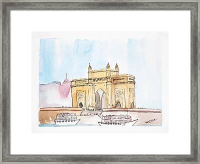 Gateway Of India Framed Print