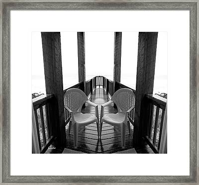 Gateway Seats Framed Print by Betsy Knapp