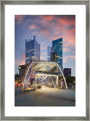 Gateway Station At Pittsburgh  Framed Print