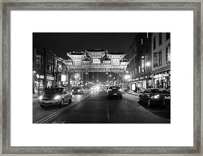 Gateway To Chinatown Framed Print