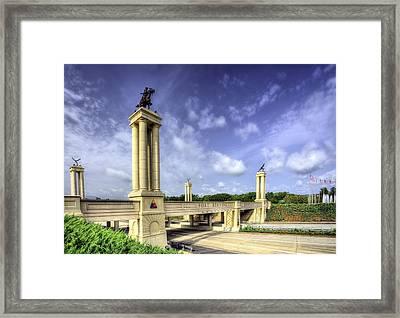 Gateway To Fort Benning Framed Print by JC Findley