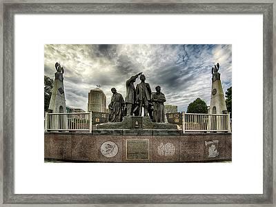 Gateway To Freedom_detroit Mi_ Hdr Framed Print
