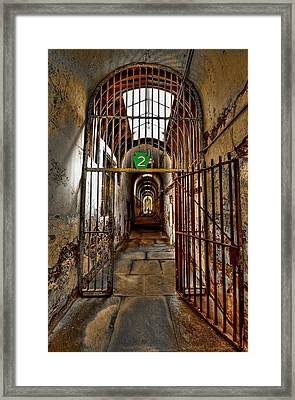 Gateway To Hell Framed Print by Evelina Kremsdorf