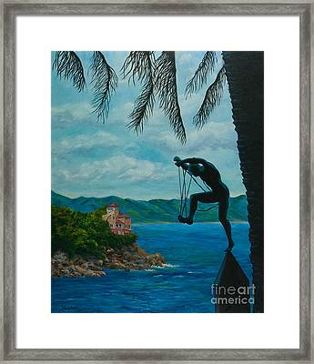 Gateway To Portofino Framed Print by Charlotte Blanchard