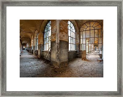 Gateway To Sanity - Abandoned Building Framed Print by Dirk Ercken