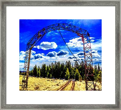 Gateway To The Clouds Framed Print by Dennis Wagner