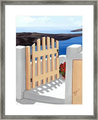 Gateway To The Sea Framed Print by Mary Grden\'s Baywood Gallery