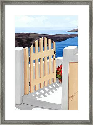 Gateway To The Sea - Prints From My Original Oil Painting Framed Print