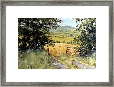 Gateway To The Vale Framed Print by Stuart Parnell
