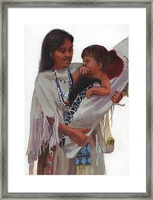 Gathered Tenderness Framed Print