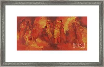 Gathering Framed Print by Bayo Iribhogbe
