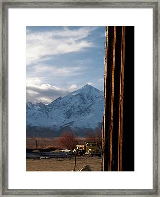 Gathering Dusk - U S 395 Independence Framed Print by Glenn McCarthy Art and Photography