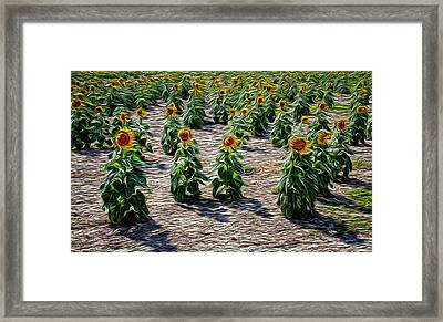 Gathering In Place Framed Print