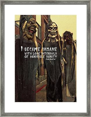 Hallowed Gathering Quote Framed Print by JAMART Photography