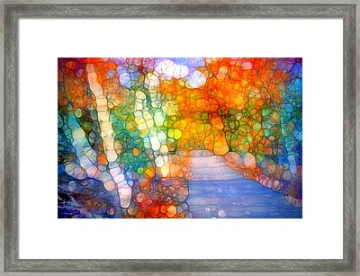 Gathering Magic Along The Path Framed Print