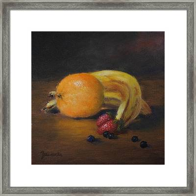 Gathering Of Fruit Framed Print