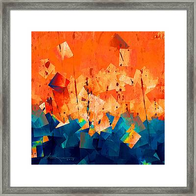 Gathering Of The Squares 3 Framed Print by Kume Bryant
