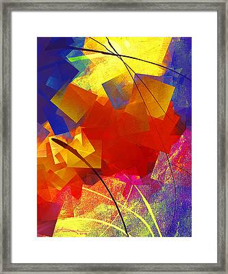 Gathering Of The Squares 4 Framed Print by Kume Bryant