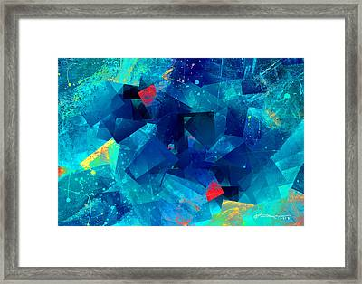 Gathering Of The Squares Framed Print by Kume Bryant