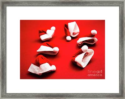 Gathering Of X-mas Hats Framed Print by Jorgo Photography - Wall Art Gallery